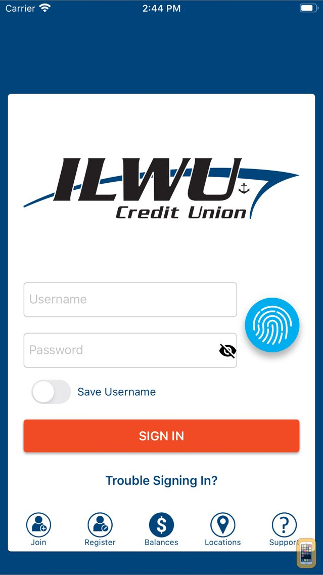Screenshot - ILWUCU Credit Union Mobile Banking