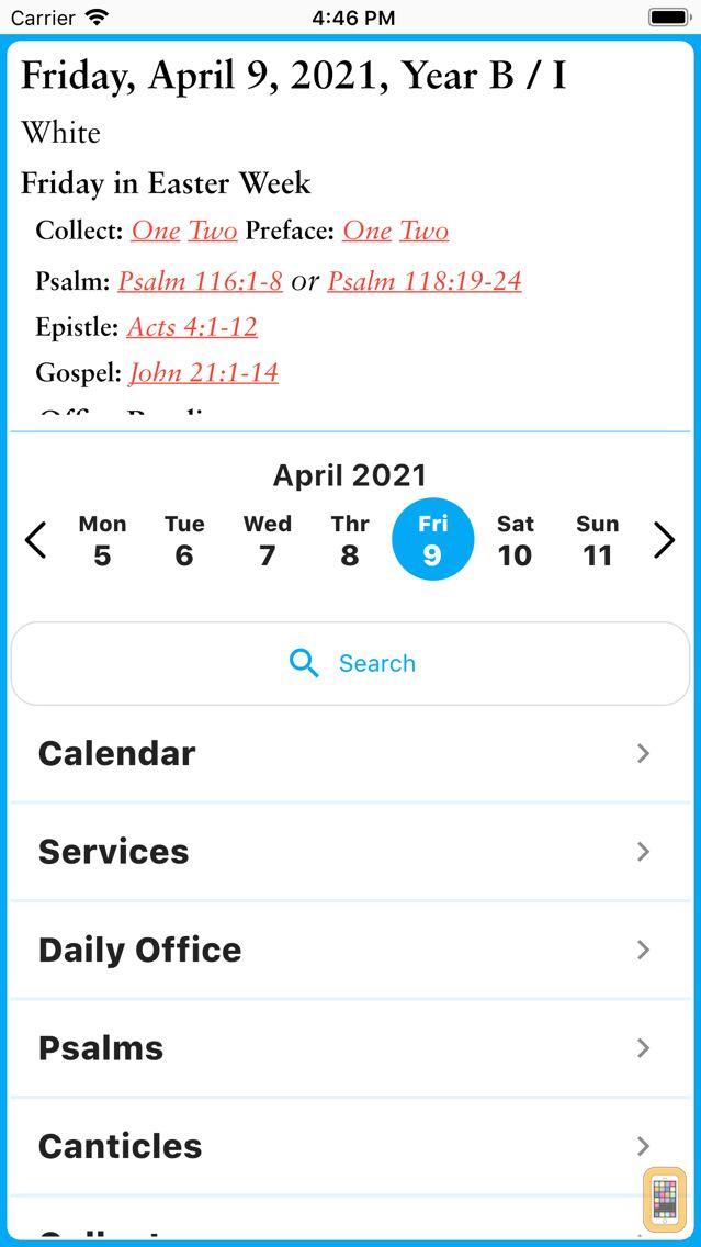 Screenshot - electronic Common Prayer