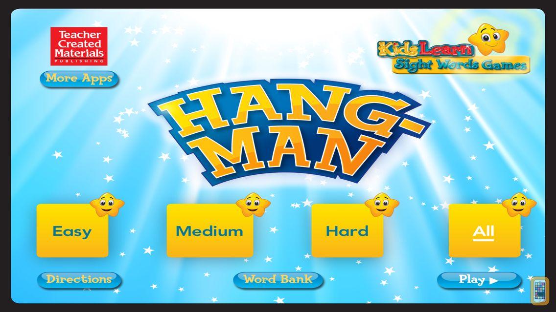 Screenshot - Hangman: Kids Learn Sight Words Games