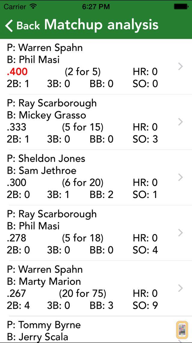 Screenshot - Pro Baseball Stats