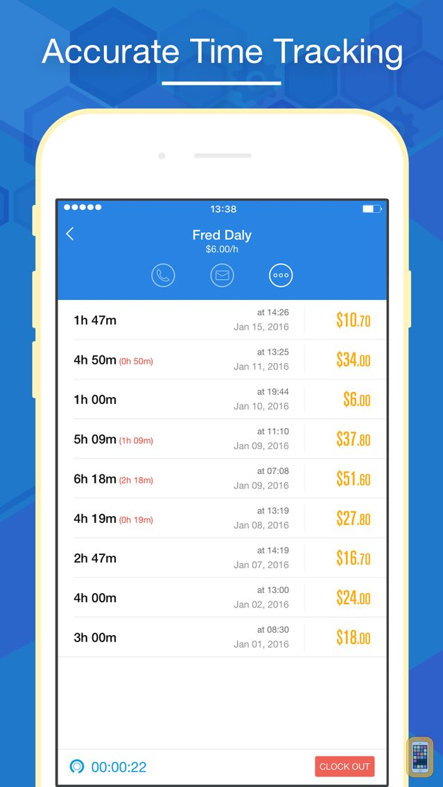 Screenshot - Hours Keeper Pro - Timesheet, Tracking & Billing