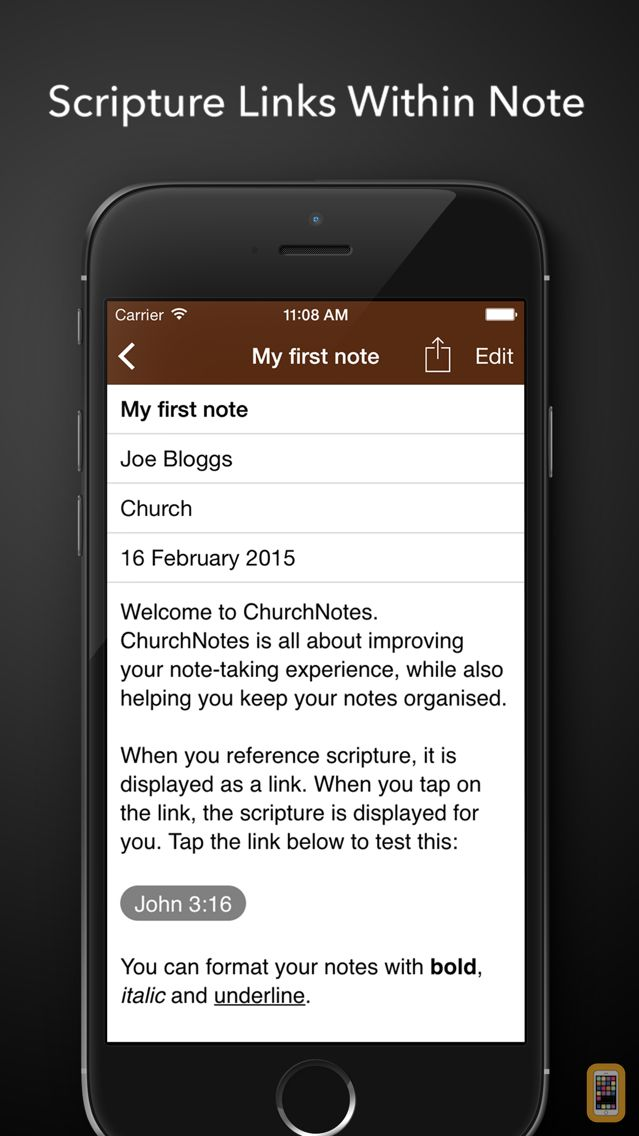 Screenshot - ChurchNotes - Write Notes From Church Sermons and Bible Studies or Podcasts