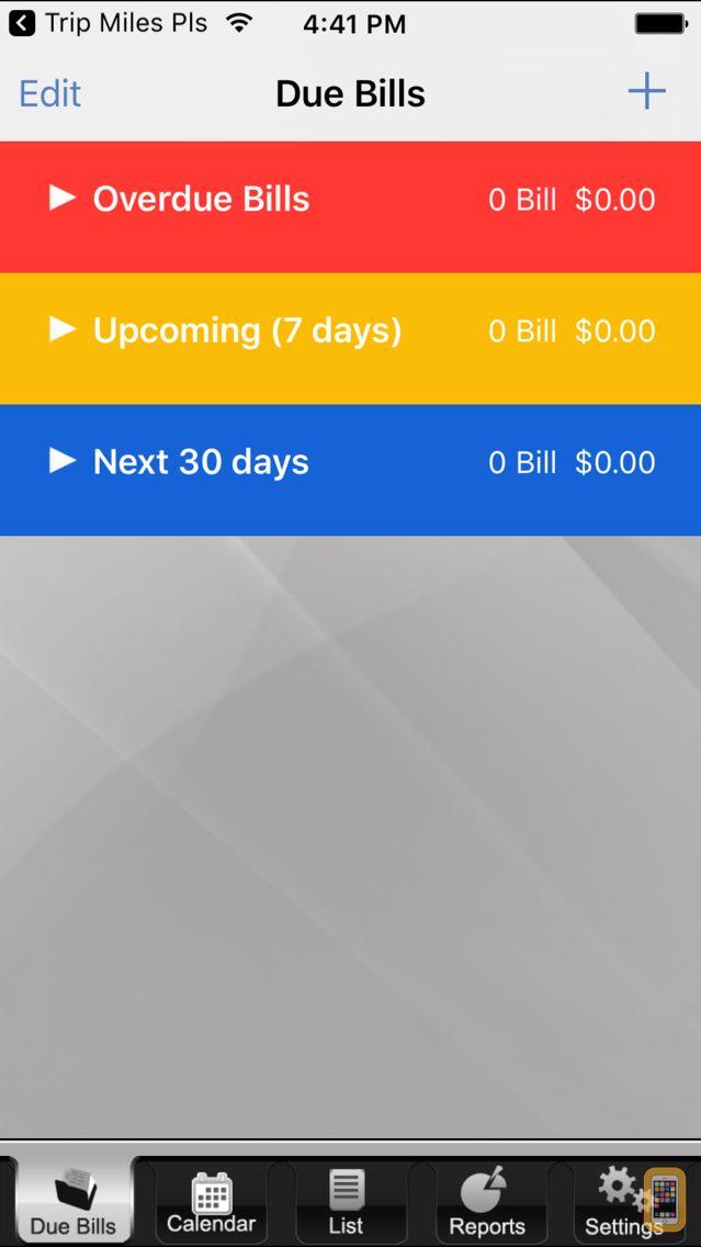 Screenshot - The Bills App - Bill Reminder and Tracker