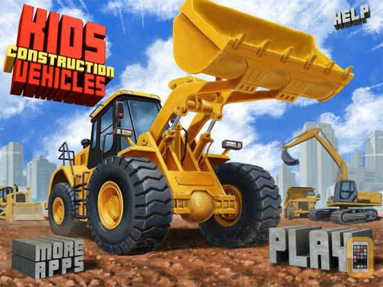 Screenshot - Kids Vehicles: Construction HD for the iPad
