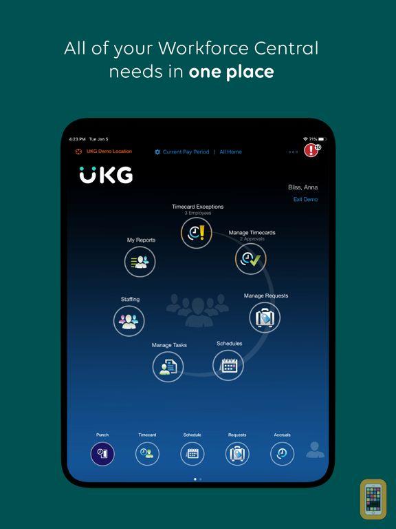 Screenshot - UKG Workforce Central Tablet