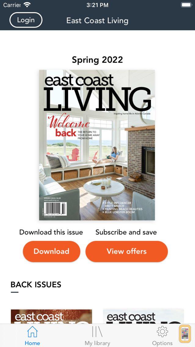 Screenshot - East Coast Living Magazine