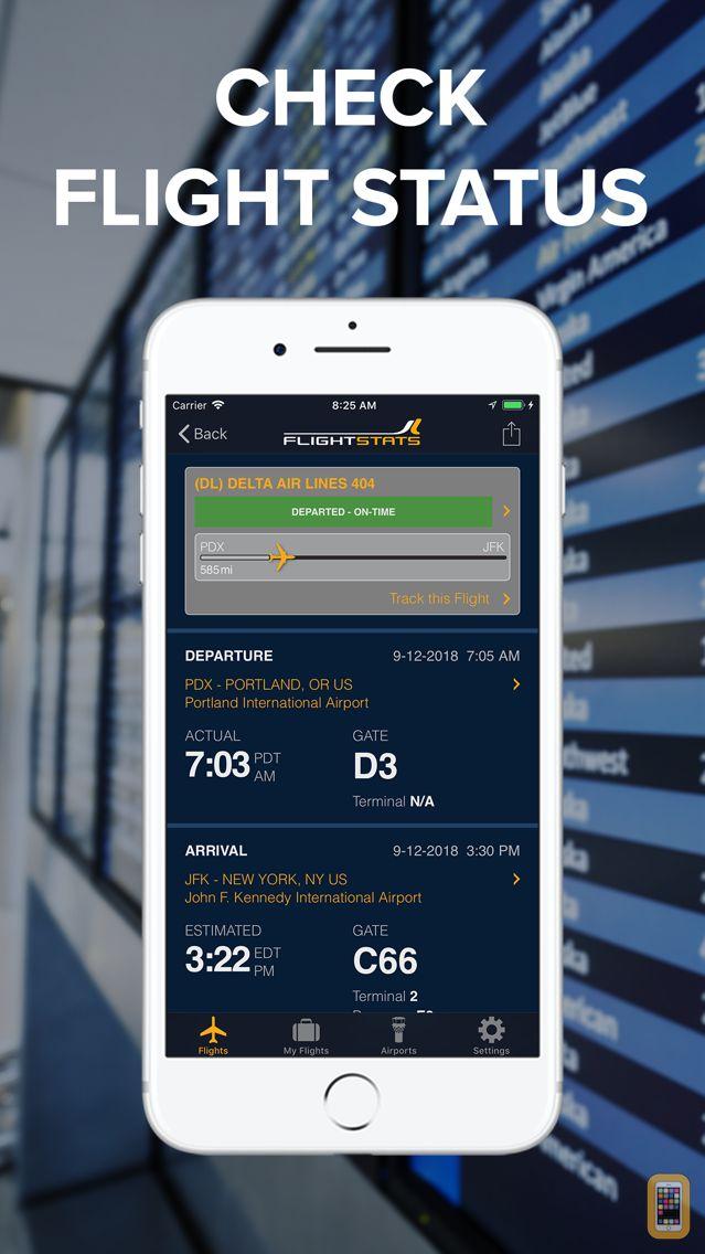 Screenshot - FlightStats
