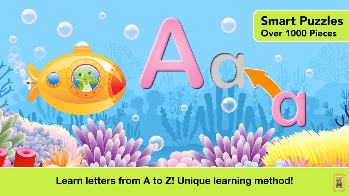 Screenshot - Alphabet Aquarium School Vol 1: Animated Bubble Puzzle with Letters for Preschool and Kindergarten Explorers