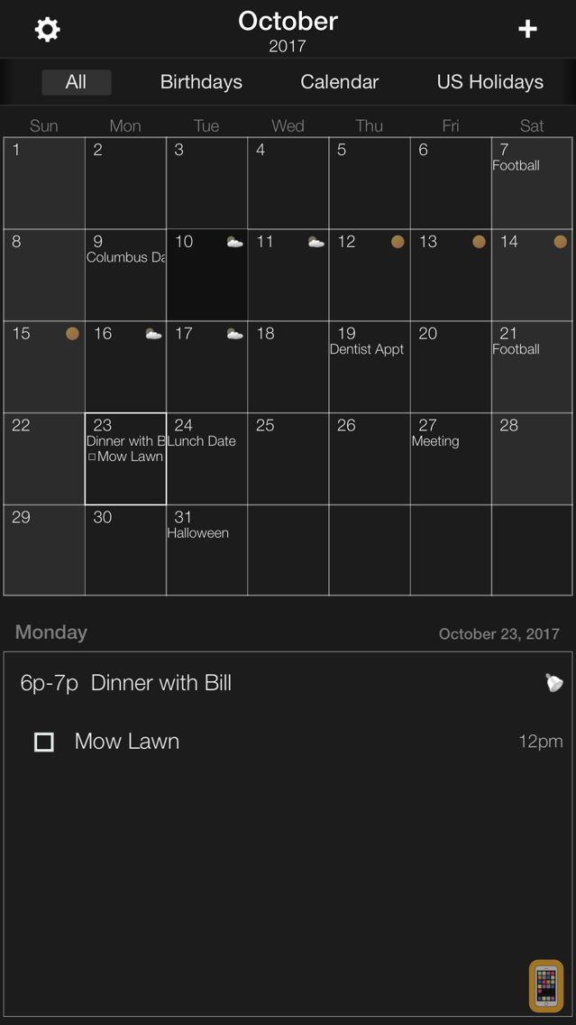 Screenshot - The Grid - Calendar