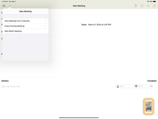 Screenshot - Meeting Notepad