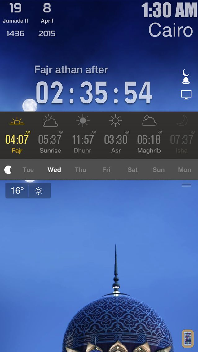 Screenshot - Ela-Salaty: Muslim Prayer Times & Qibla Direction