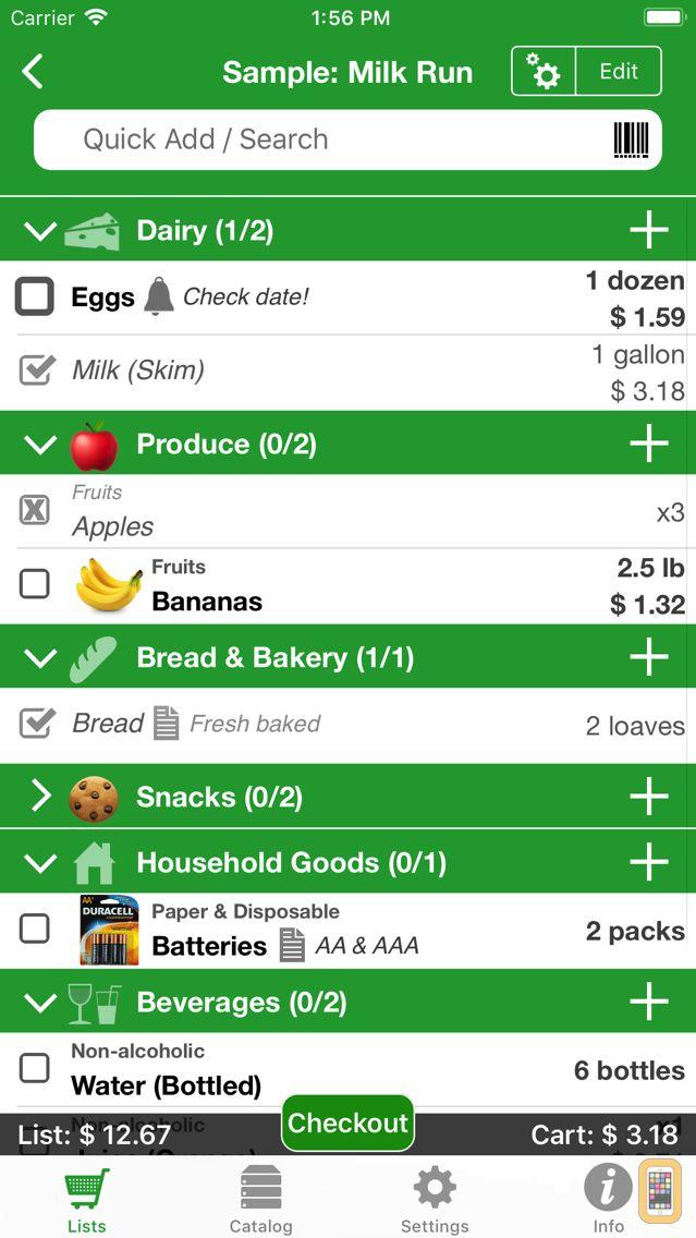 Screenshot - Shopping Pro (Grocery List)