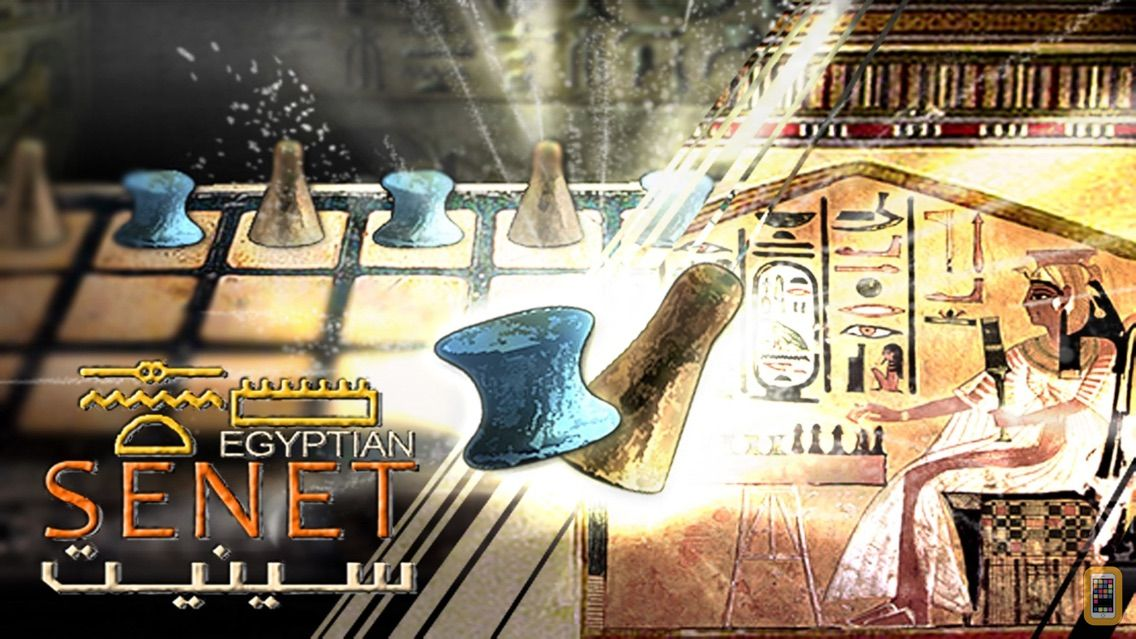 Screenshot - Egyptian Senet (Ancient Egypt Game) The Mysterious Soul Journey. Queen Nefertari playing match against an invisible adversary inside her tomb as a way of achieving rebirth and joining the gods in the