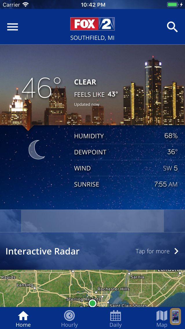 Screenshot - FOX 2 Weather – Radar & Alerts