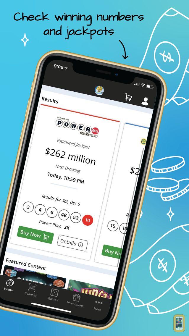 Screenshot - Michigan Lottery Mobile