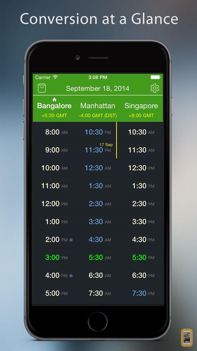 Screenshot - World TimeZlider - Convert time, schedule and share
