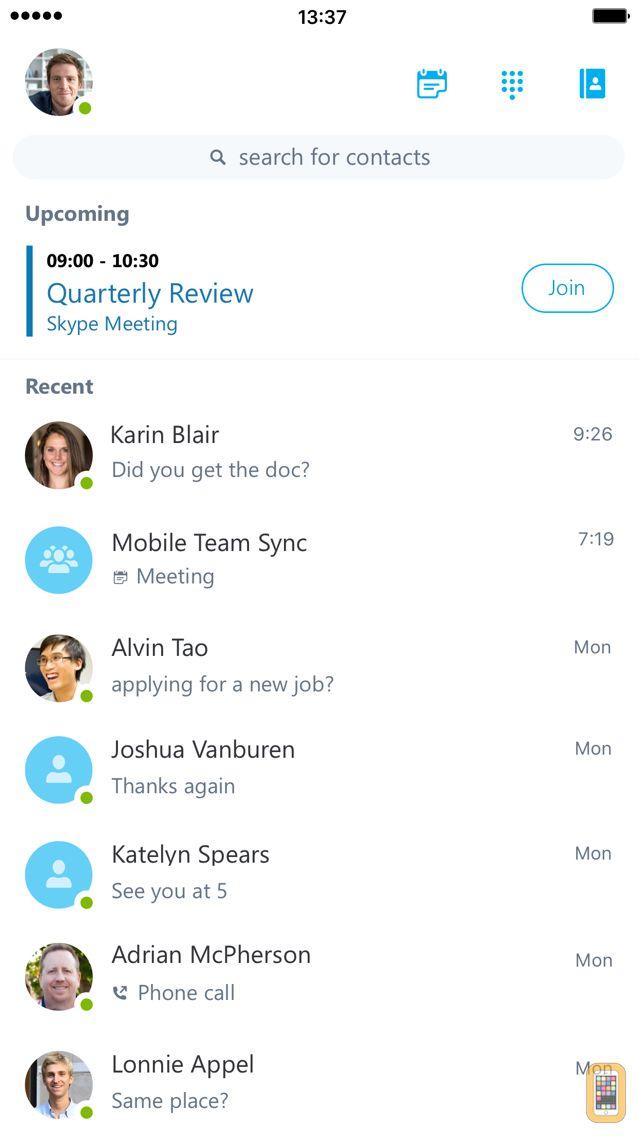 Screenshot - Skype for Business