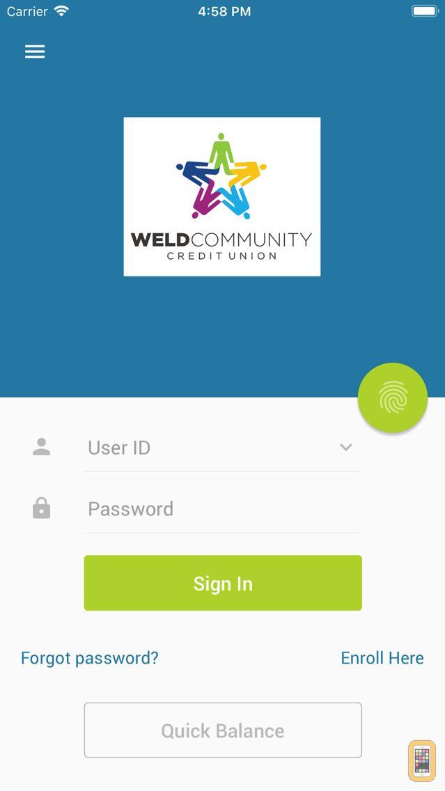 Screenshot - Weld Schools Credit Union Mobile Banking