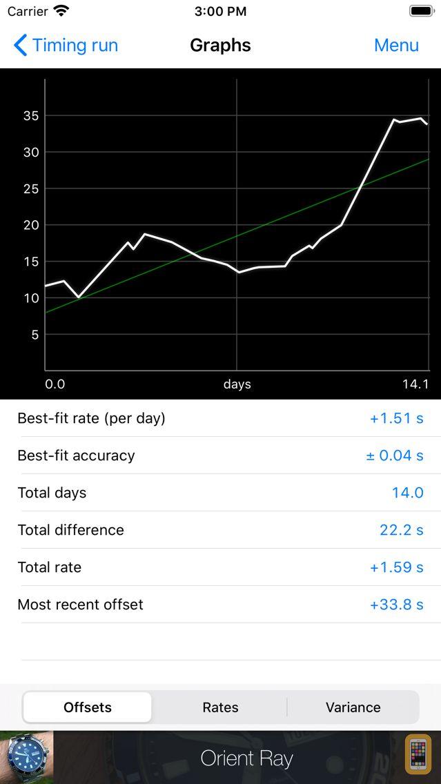 Screenshot - Watch Tracker