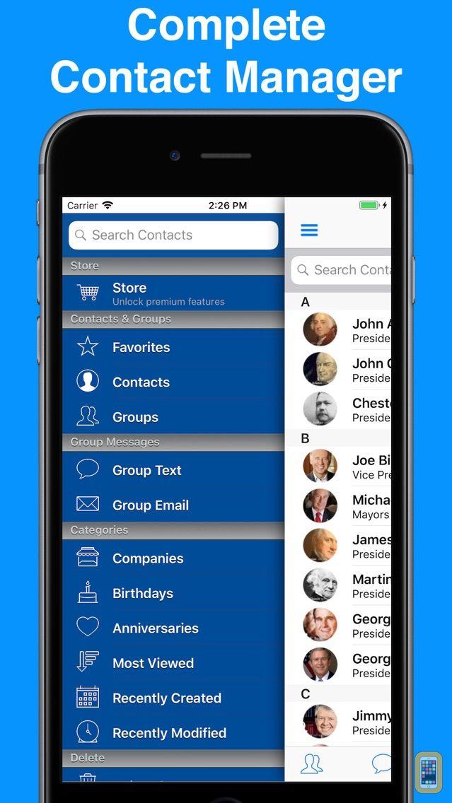 Screenshot - A2Z Contacts - Group Text App