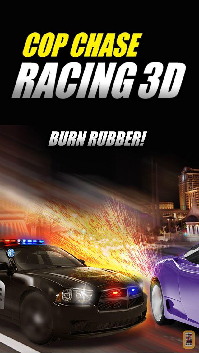Screenshot - A Cop Chase Car Race 3D FREE