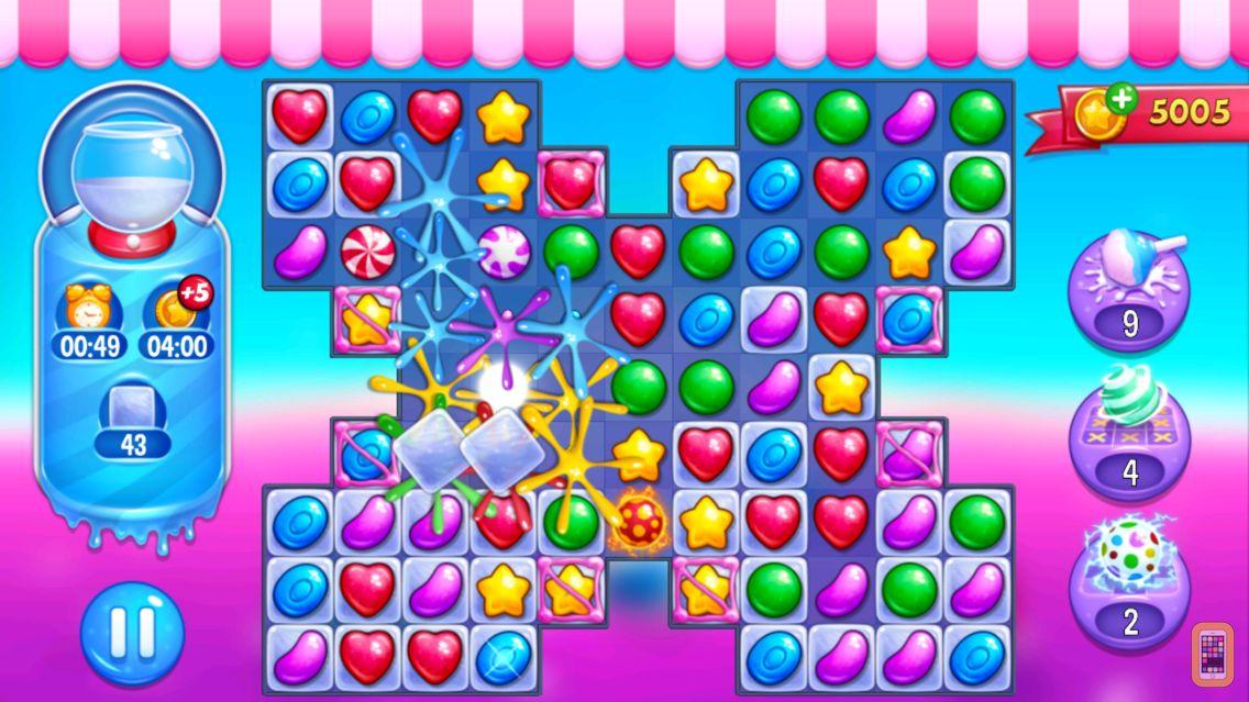 Screenshot - Jewel World Candy Edition : Beany et Gummy Match 3 Adventure