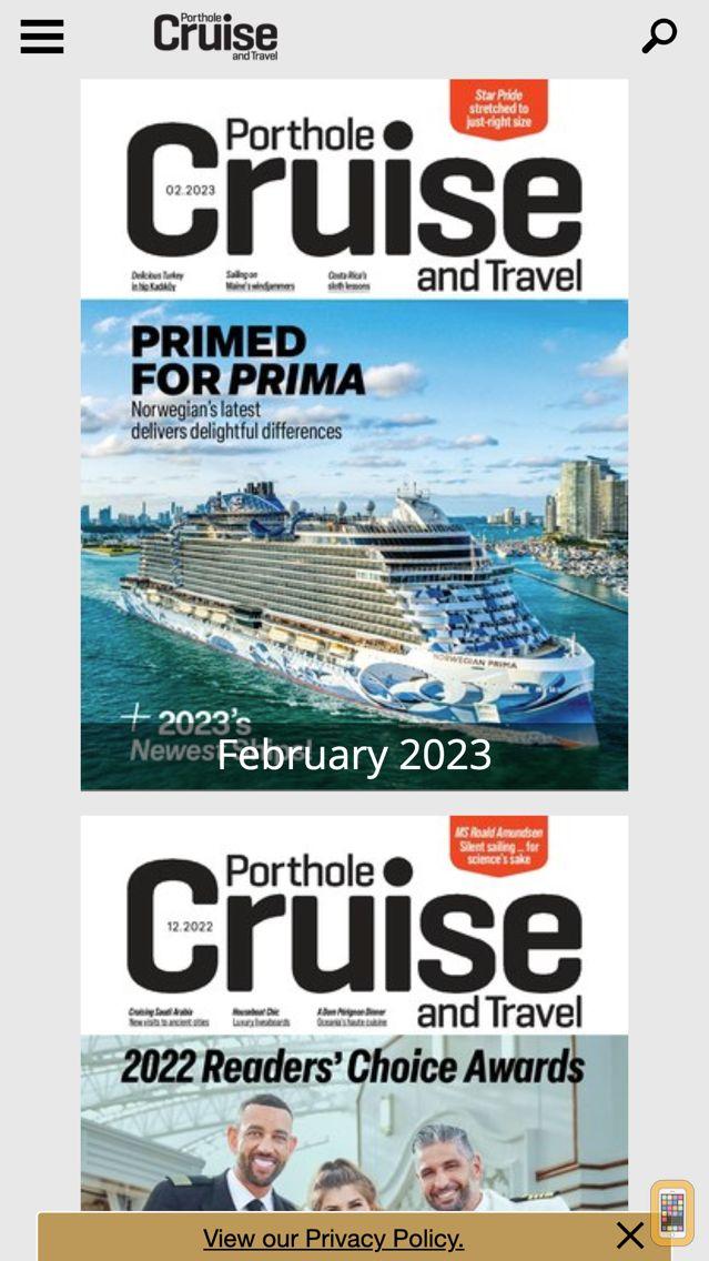 Screenshot - Porthole Cruise Magazine
