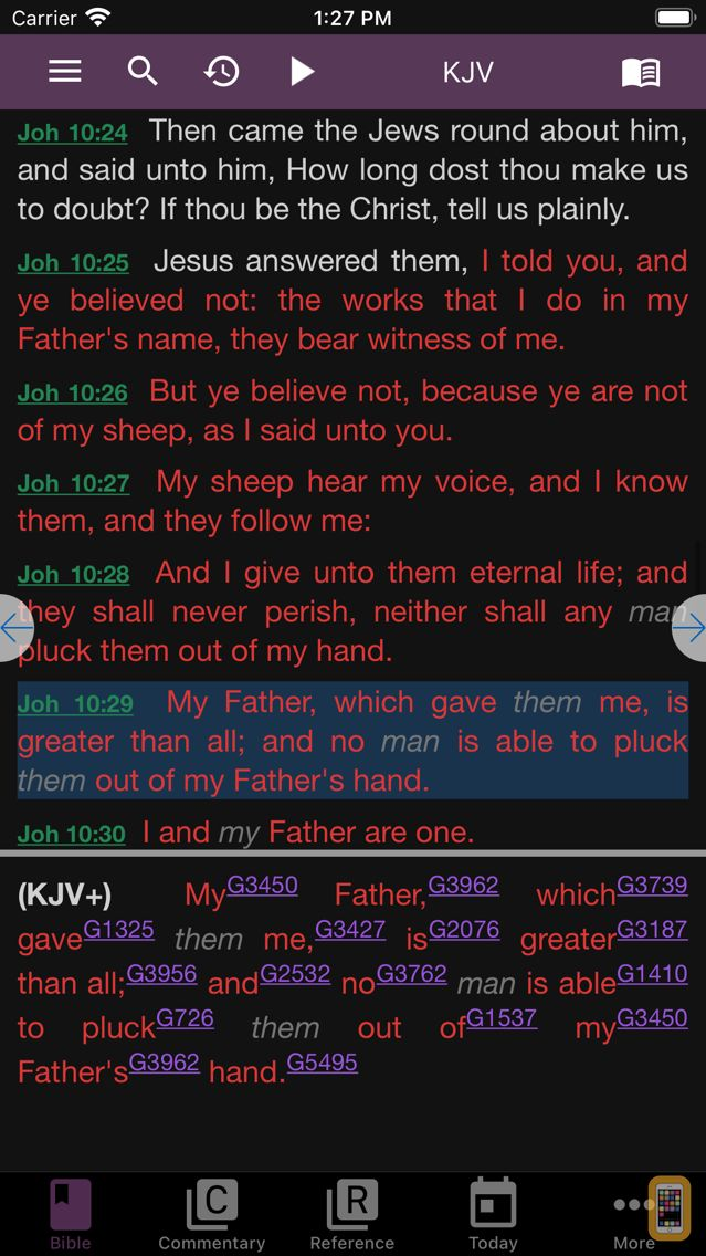 Screenshot - e-Sword LT: Bible Study to Go