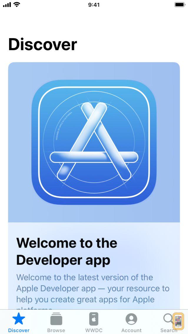 Screenshot - Apple Developer