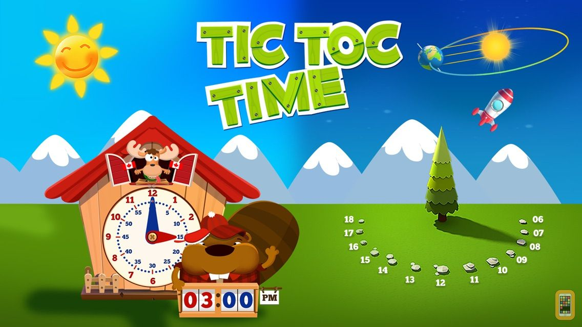 Screenshot - Tic Toc Time: Break down the day to learn how to tell time