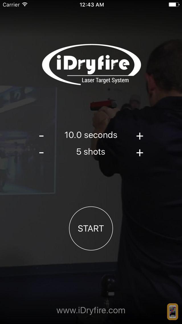 Screenshot - iDryfire Laser Target System