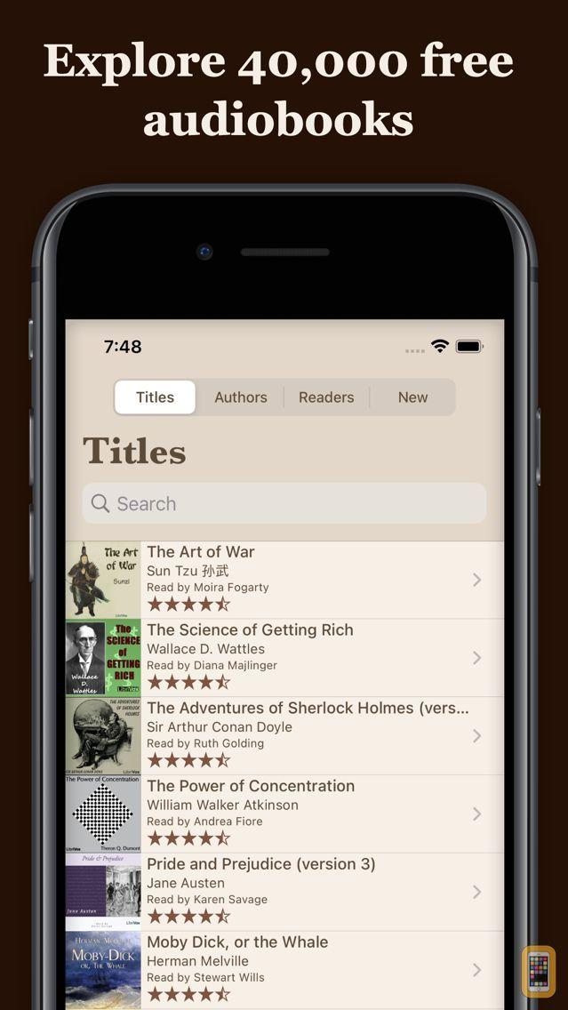 Screenshot - LibriVox Audio Books Pro