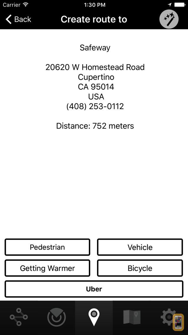 Screenshot - Seeing Eye GPS