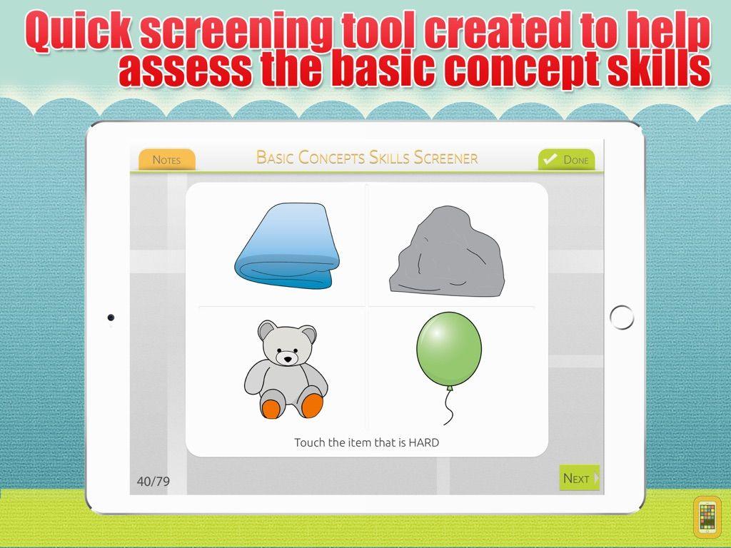 Screenshot - Basic Concepts Skills Screener