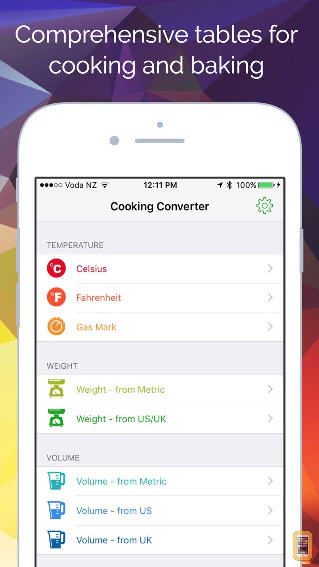 Screenshot - Cooking Converter - Weights, Volumes, Temperatures