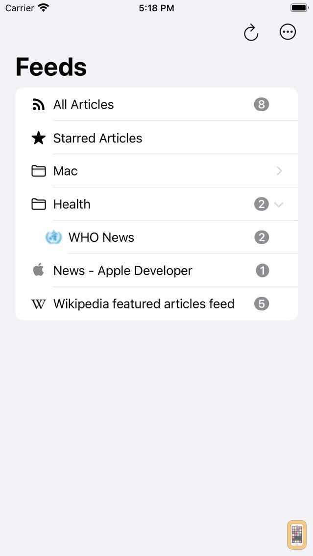 Screenshot - CloudNews - Feed Reader