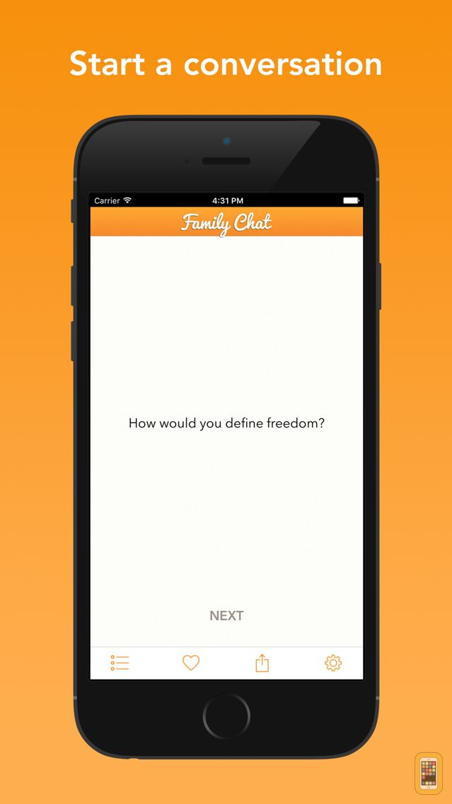 Screenshot - Family Chat - Conversation Topics for Families