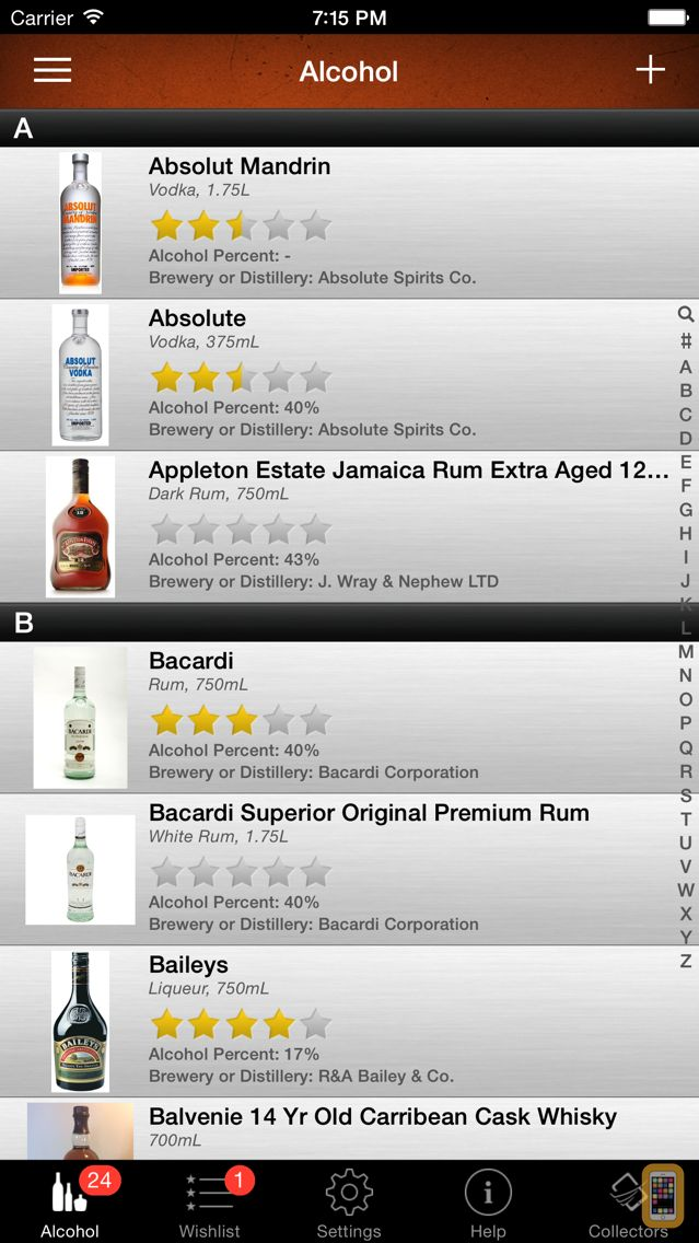 Screenshot - Alcohol Liquor Beer Collector