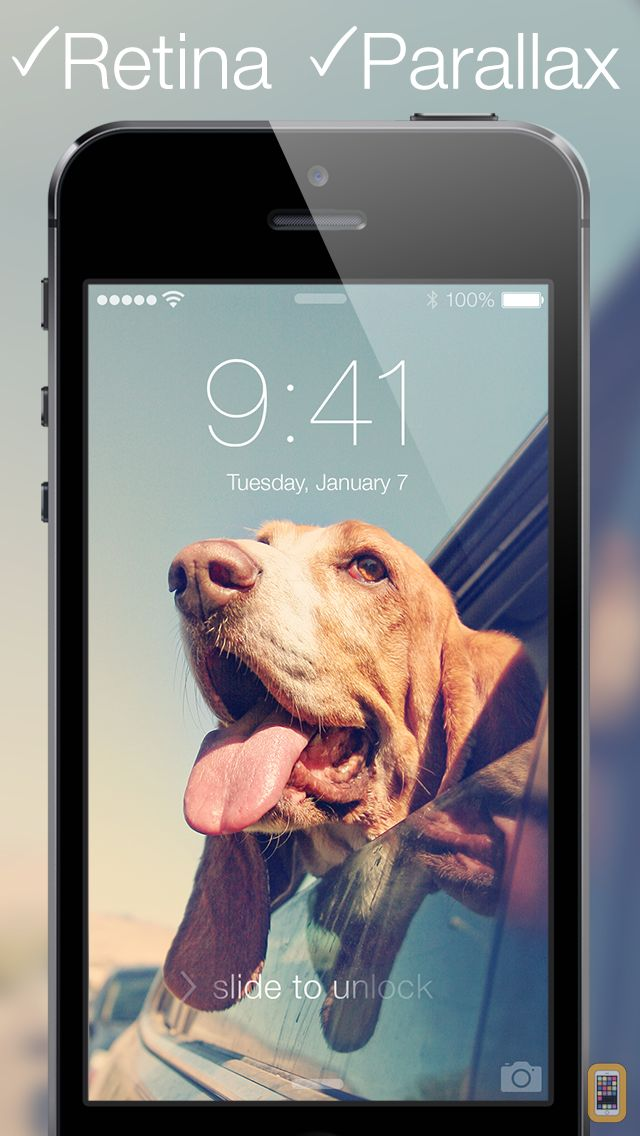 Screenshot - Wallpapers for iOS 7 - Parallax Home & Lock Screen Dynamic Wallpaper, App Shelves & Skins for App Icons