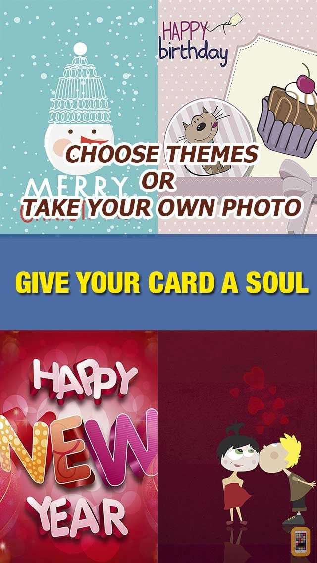 Screenshot - Egift Maker – Create Greeting, Thanksgiving Card With Beautiful Theme, Emoticon And Message
