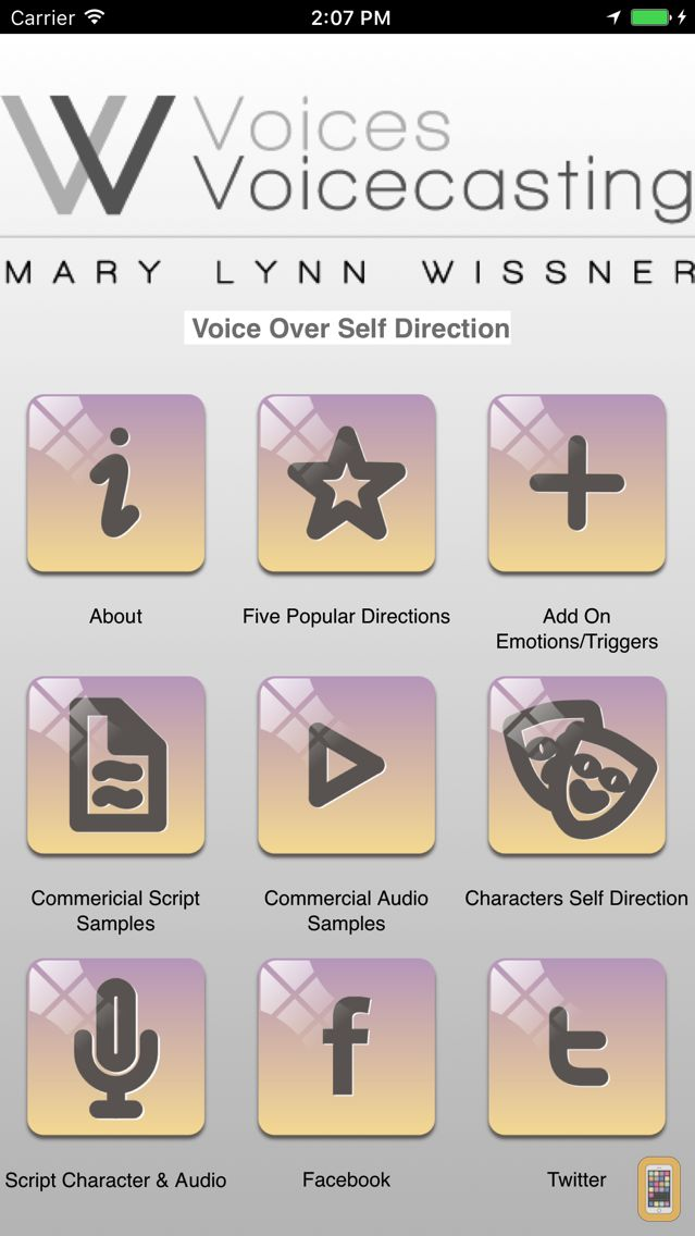 Screenshot - Voice Over Self Direction