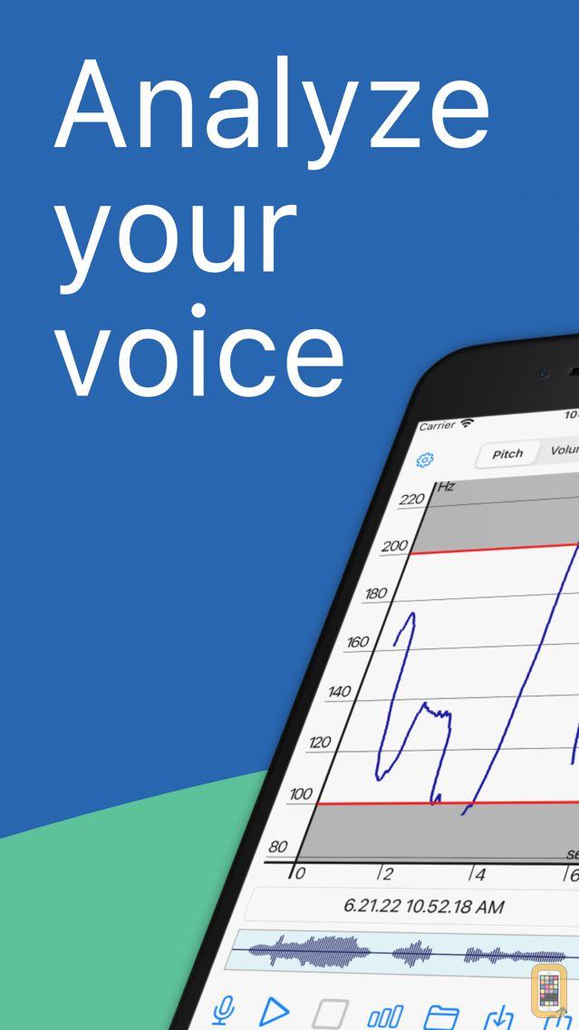 Screenshot - Voice Analyst: pitch & volume