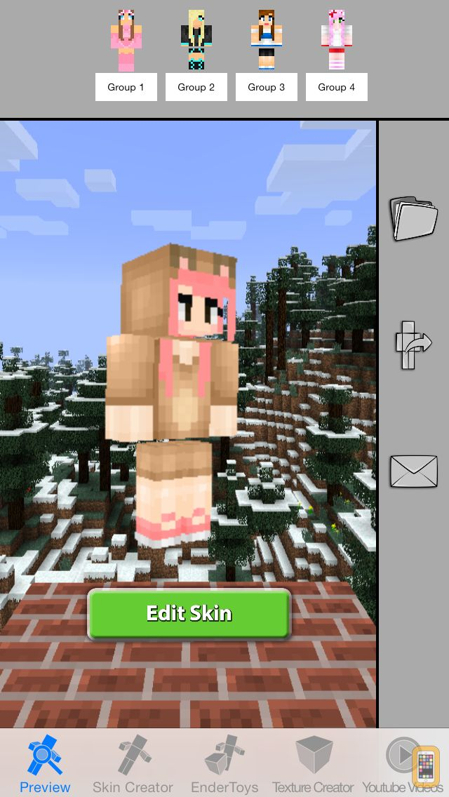 Screenshot - Girls Skins Pro for Minecraft Game Textures Skin