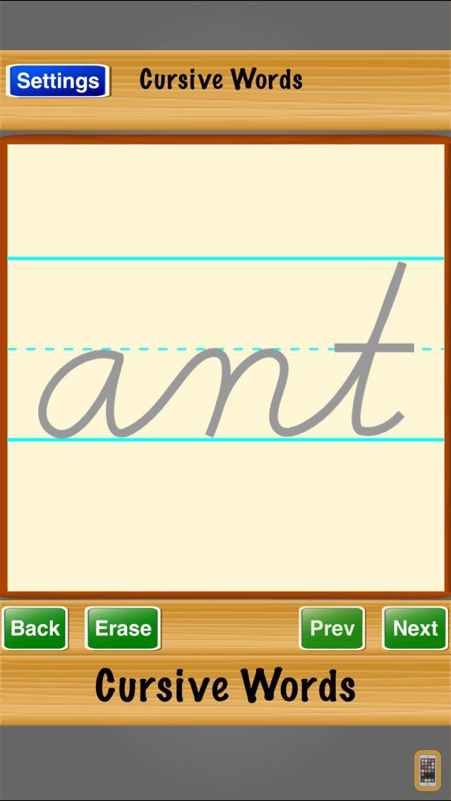 Screenshot - Cursive Words