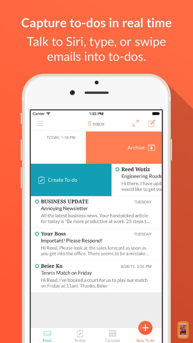 Screenshot - Handle: To-do List, Inbox, and Calendar Management all in one