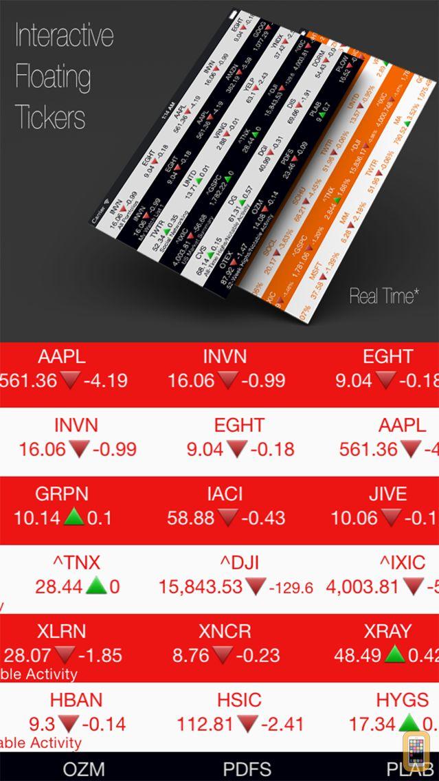 Screenshot - Stocks Tape: Market Browser