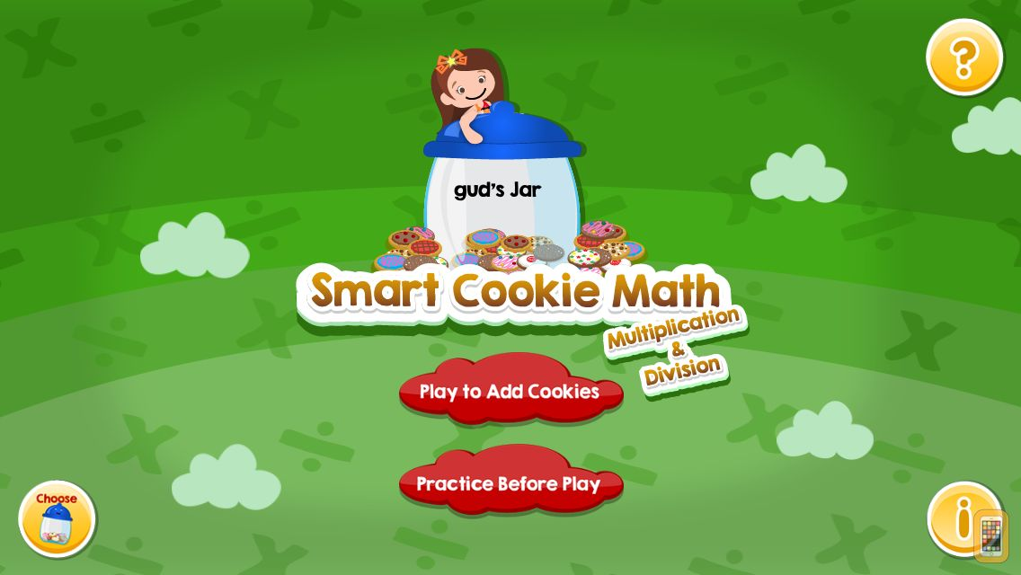 Screenshot - Smart Cookie Math Multiplication & Division Game!
