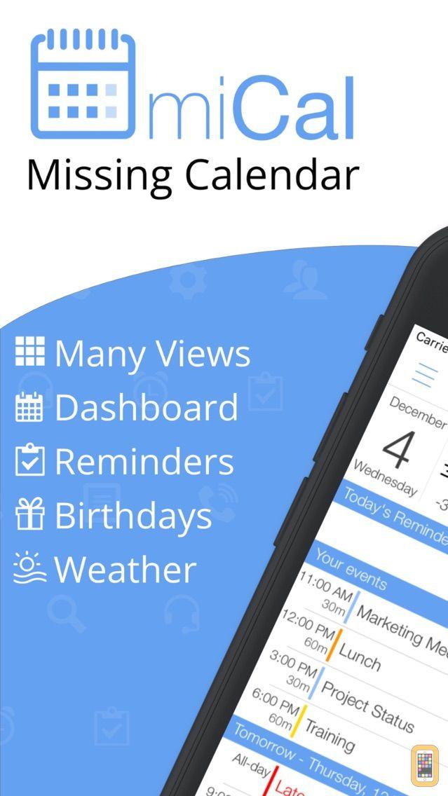 Screenshot - miCal - The missing Calendar