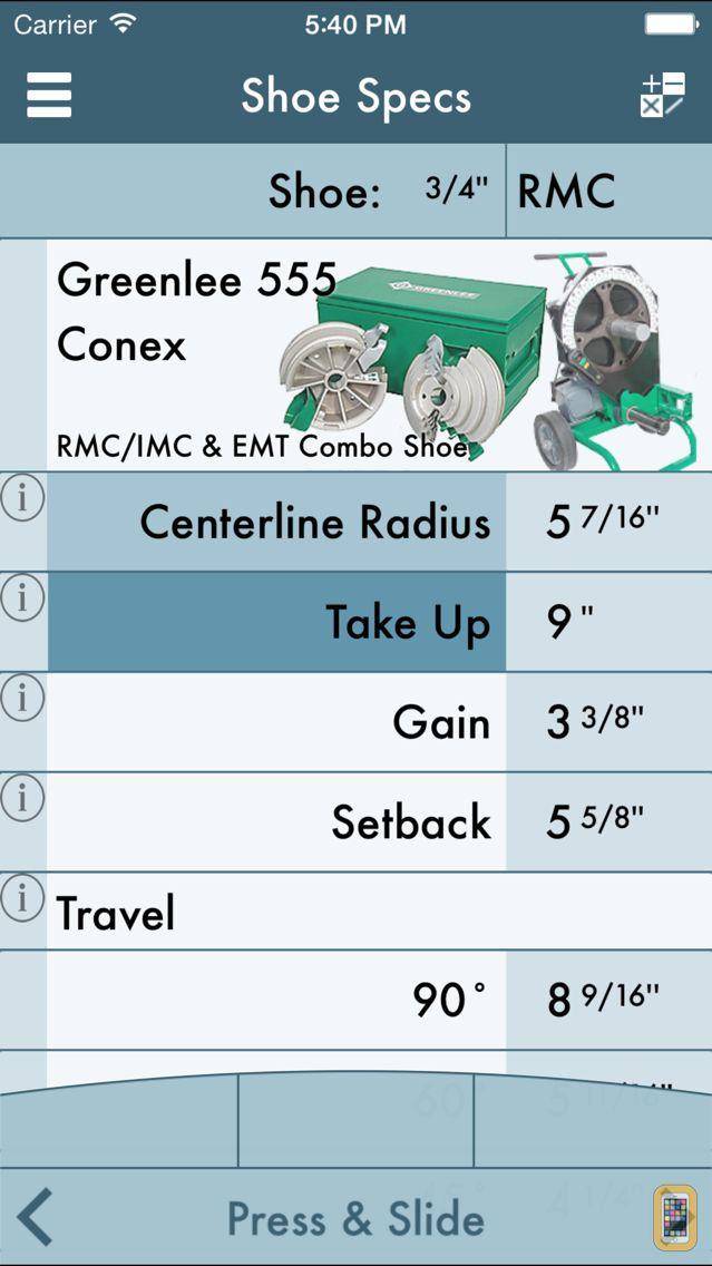 Screenshot - RIGID: Conduit Bending Calculator