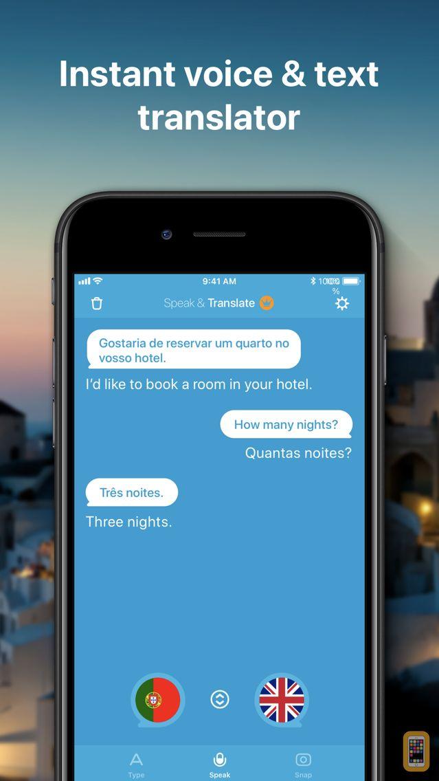 Screenshot - Speak & Translate - Translator